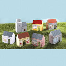 Small World Wooden High Street Buildings  medium