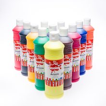 Scola Ready Mixed Assorted Paint 600ml 12pk  medium