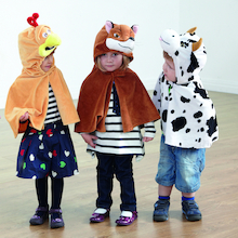 Role Play Dressing Up Animal Capes 4pk  medium