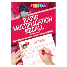 Rapid Recall Multiplication Times Table Workbook  medium