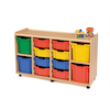 Safe Sturdy Storage Tray Unit 4 Jumbo Trays  small