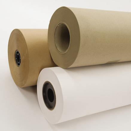 Brown Ribbed Craft Paper Roll 900mm x 250m  large