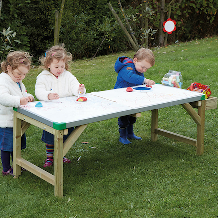 Low Outdoor Mark Making Whiteboard Table  large