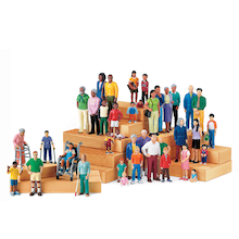 Small World Plastic Block Diversity People  medium