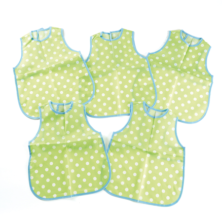 Dotty Polyester Long Bibs 5pk  large