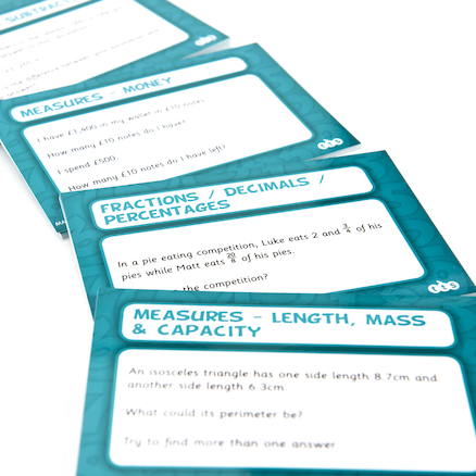 Graded Maths Problem Solving Cards 100pk Set 5  large
