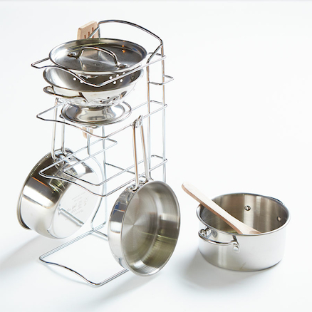 Stainless Steel Role Play Pots and Pan Set  large