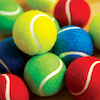 Coloured Playground Tennis Balls 7cm 12pk  small