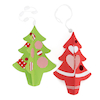 Greyboard Display Christmas Trees 3pk  small
