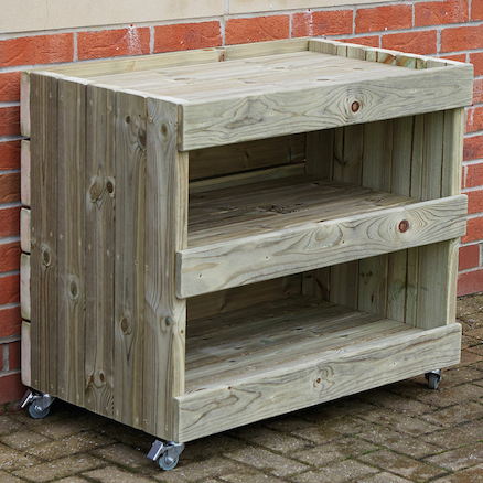 Outdoor Hollow Block Storage Trolley  large