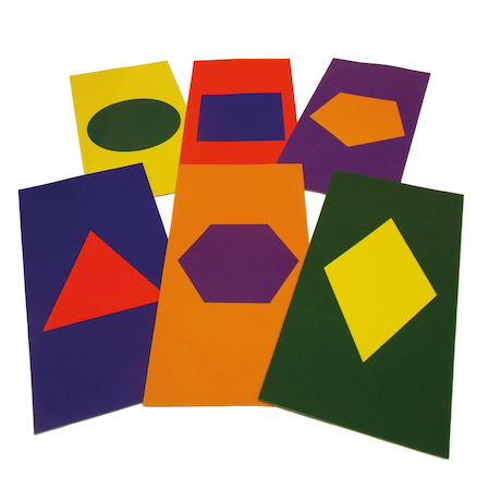 Coloured Mats with Printed Shapes  large