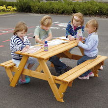 Rectangular Infant Height 6 Seater Picnic Bench  medium