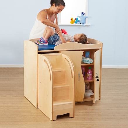 Walk Up Baby Change Table  large