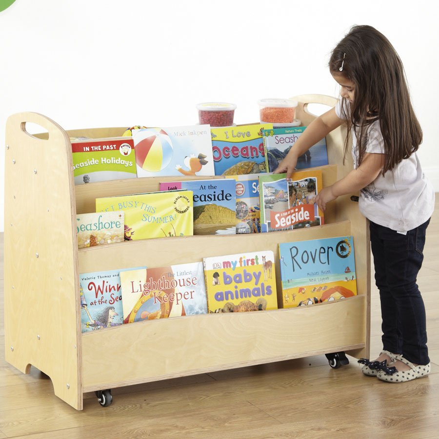 Buy Double Sided Display And Book Trolley Tts