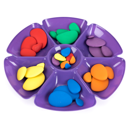 Assorted Colour Flower Sorting and Paint Trays 6pk  large