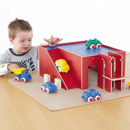 Small World Wooden Parking Garage  large
