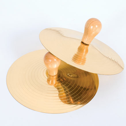 Cymbals with Handles  large