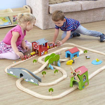 Small World Farm Themed Train Set  large