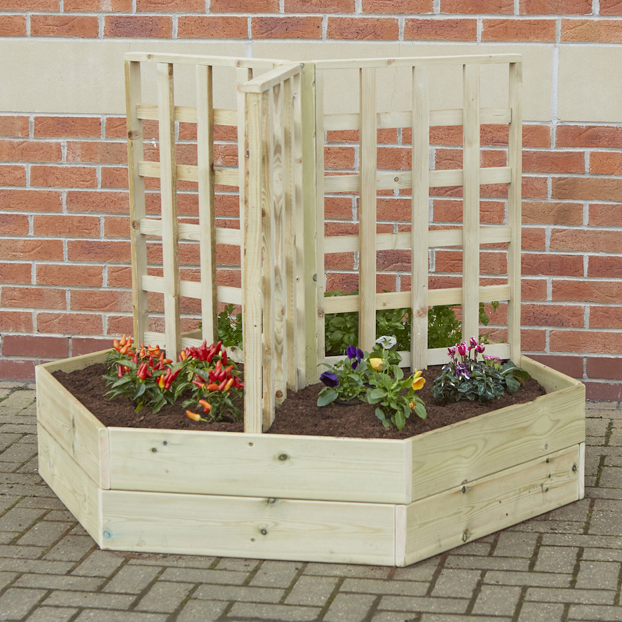 Planters: Buy Wooden Planters With Trellis