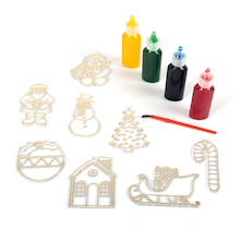Christmas Decoration Glass Painting Set 12pk  medium