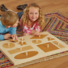 Wooden Giant Explorer Peg Puzzle Board  small