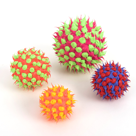 UV Reactive Textured Balls 4pk  large