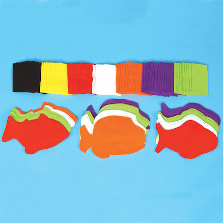 Pre Punched Felt Fish Sewing Kit  large