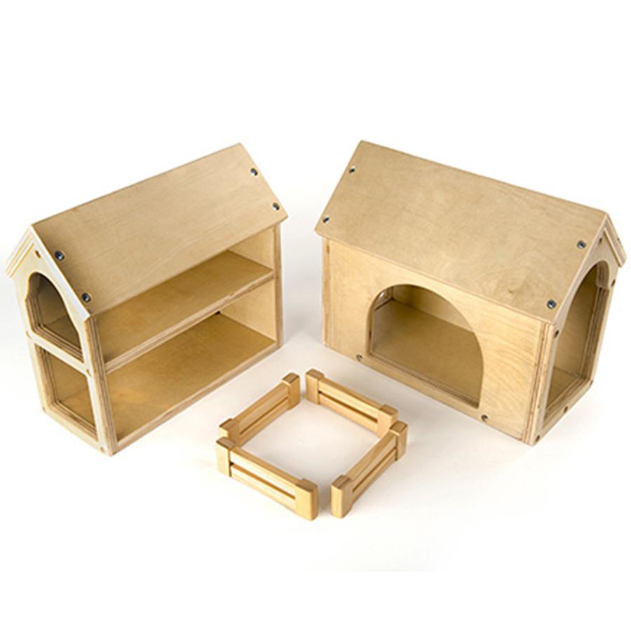 Buy Wooden Farm Buildings Small World Play Set | TTS