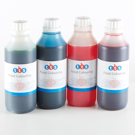 Food Colouring 500ml 4pk  large