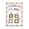Hessian Frame Decorations  small