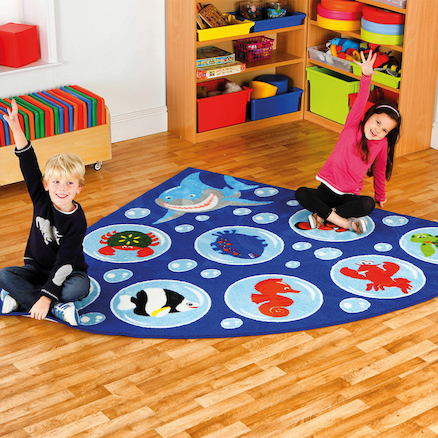Under the Sea Corner Floor Mat W200 x L200cm  large