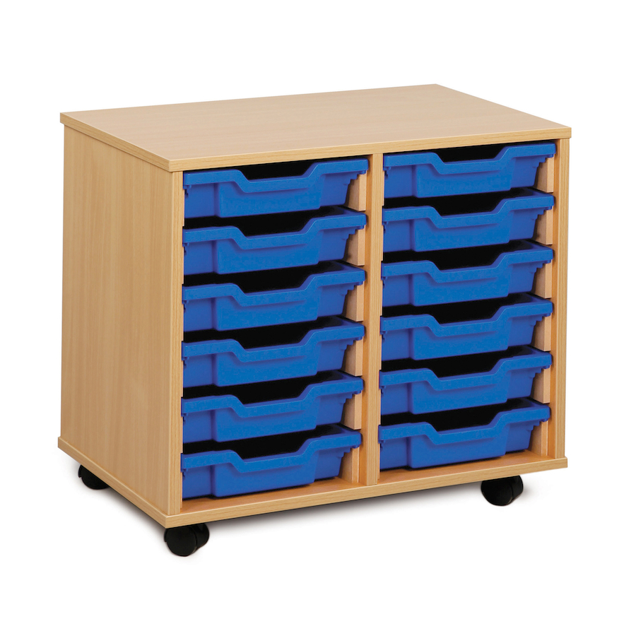 Buy Mobile Tray Storage Unit With 12 Shallow Trays