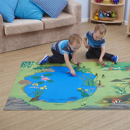 Small World Nature Reserve Themed Play Mat  large