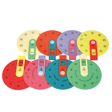 Colourful Maths Number Wheels  medium