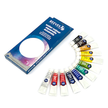 Reeves Watercolour Paint Tubes Assorted 12ml 12pk  medium