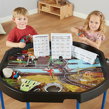 Active World Tuff Tray Superhero Mat  medium