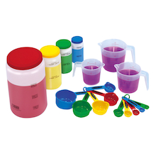 Liquid Volume Measure Set for Messy Maths 17pcs  medium