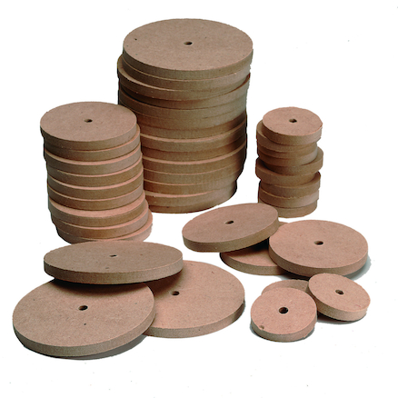 Wooden Wheels 54mm Diameter 4mm Hole  large