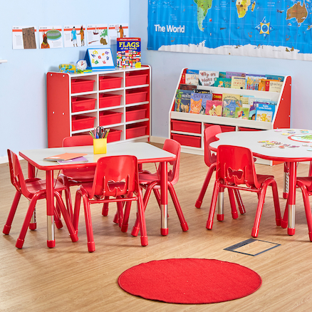 Valencia Classroom Furniture Set Red SH210mm  large