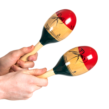 Tri Colour Maracas Medium  large