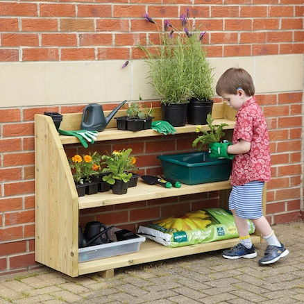 Outdoor Wooden Shelving Unit  large