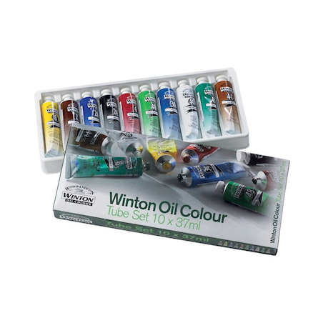 Winsor & Newton Academy Oil Colour Paint 10 x 37ml  large