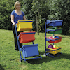 Tray Transporter Metal Wheelie Trolley  small