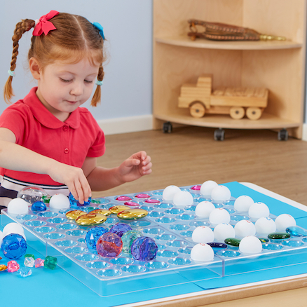 Lightbox Fine Motor Activity and Sorting Grid  large