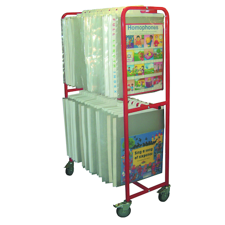 Large Mobile Big Book Stand L100 x W52 x H182cm  large