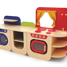 Modern Wooden Role Play Kitchen Buy All and Save  medium