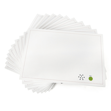 A4 Talk\-Time Recordable Card 30 Second 10pk  large