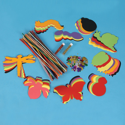 Paper Minibeast Shapes Assorted 108pk  large