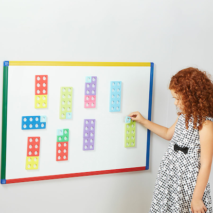 Coloured Magnetic Number Frames 80pcs  large