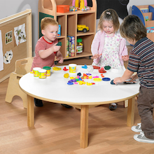 Toddler Low Circular Table H380mm  medium